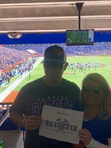 Chase attended Florida Gators vs. Idaho Vandals - NCAA Football on Nov 17th 2018 via VetTix