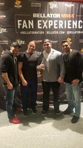 Bilal attended Bellator 208 - Fedor vs. Sonnen - Live Mixed Martial Arts on Oct 13th 2018 via VetTix
