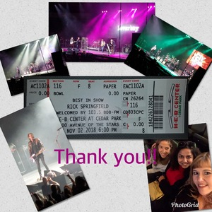 Turner attended Rick Springfield Presents Best in Show 2018 With Loverboy, Greg Kihn, & Tommy Tutone, Welcomed by 103. 5 Bobfm on Nov 2nd 2018 via VetTix