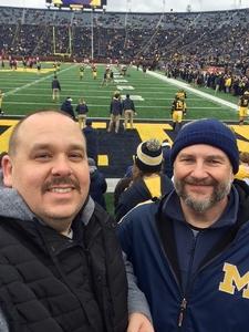 scott attended University of Michigan Wolverines vs. Indiana Hoosiers - NCAA Football - Time TBA on Nov 17th 2018 via VetTix