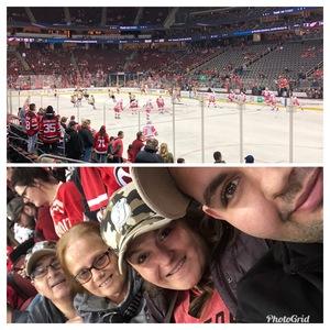 Nicole attended New Jersey Devils vs. Detroit Red Wings - NHL on Nov 17th 2018 via VetTix