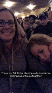 Casie attended Champions of Magic - Saturday Matinee on Dec 1st 2018 via VetTix