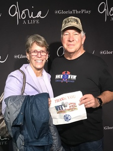David K attended Gloria - a Life, a New Off-broadway Play About the Life of Gloria Steinem on Nov 25th 2018 via VetTix