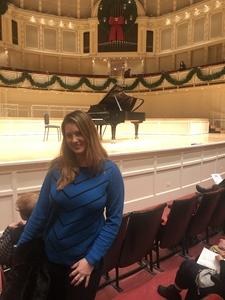 Hillary attended Cedric Tiberghien - Piano - Presented by the Chicago Symphony Orchestra on Dec 2nd 2018 via VetTix