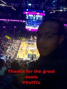 Darren attended Brooklyn Nets vs. Philadelphia 76ers - NBA on Nov 25th 2018 via VetTix