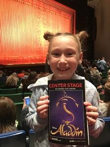 Angela attended Disney's Aladdin - Des Moines Performing Arts - Matinee on Nov 29th 2018 via VetTix