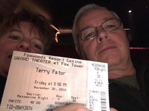 Brian attended Terry Fator on Nov 30th 2018 via VetTix
