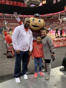 Aundray attended Ohio State Buckeyes vs. Cincinnati Bearcats - NCAA Women's Basketball on Dec 2nd 2018 via VetTix