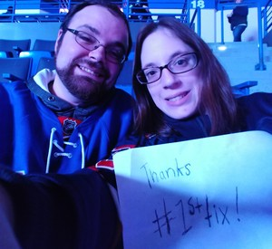 Ashley attended Hartford Wolf Pack vs. Springfield Thunderbirds - AHL on Jan 4th 2019 via VetTix