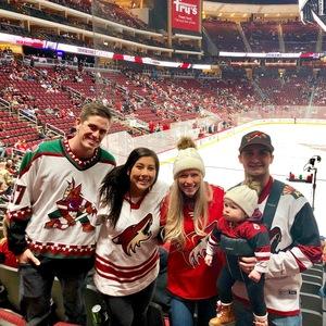 Kyle attended Arizona Coyotes vs. Washington Capitals - NHL on Dec 6th 2018 via VetTix