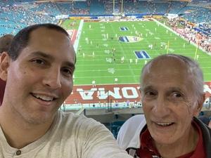 Luis attended 2018 Capital One Orange Bowl - Oklahoma Sooners vs. Alabama Crimson Tide - College Football Playoffs Semifinal Game on Dec 29th 2018 via VetTix