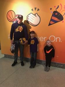 Jacob attended Phoenix Suns vs. Philadelphia 76ers - NBA on Jan 2nd 2019 via VetTix
